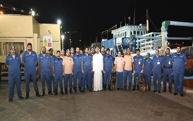 جانب من جولة مدير جمارك دبي