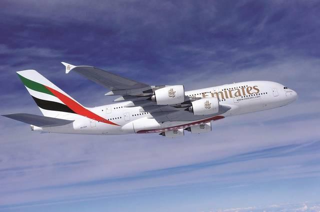إحدى الطائرات التابعة لطيران الإمارات