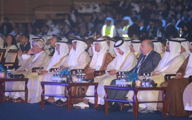 جانب من مشاركة وزير الطاقة السعودية بمؤتمر الطاقة العالمي في أبوظبي