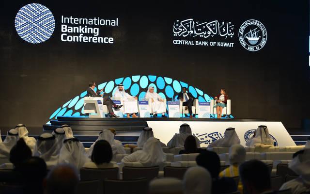 جانب من المؤتمر المصرفي العالمي الذي يعقد في الكويت اليوم