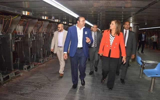 خلال زيارة وزيرة التخطيط للهيئة الاقتصادية لمنطقة قناة السويس