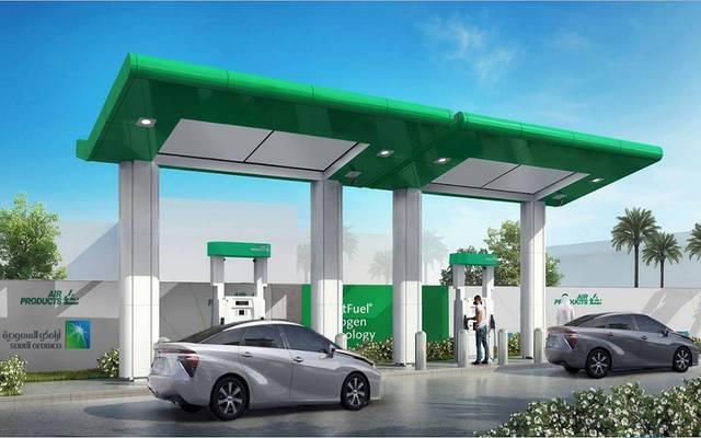 محطة لتزويد السيارات بالهيدروجين تابعة لشركة أرامكو السعودية- أرشيفية