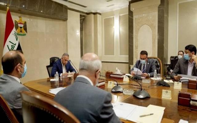 جانب من اجتماع اللجنة العليا برئاسة مصطفى الكاظمي رئيس وزراء العراق
