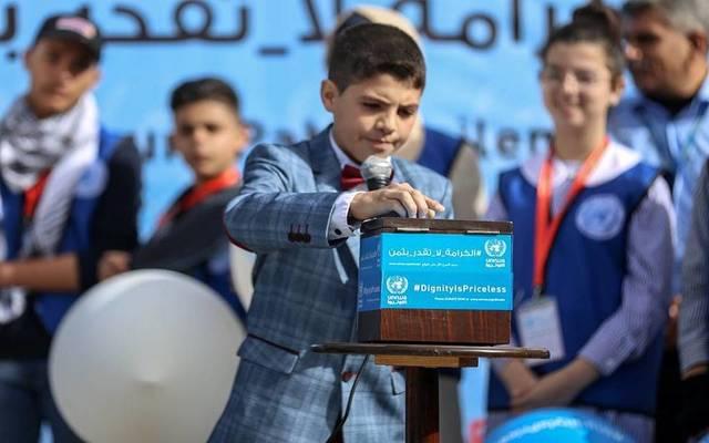 """طالب بإحدى مدارس غزة التابعة لإشراف """"الأونروا"""""""