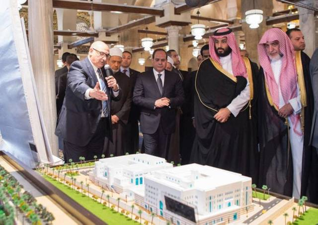 Saudi Crown Prince, Egypt's El-Sisi open Al-Azhar Mosque after renovation