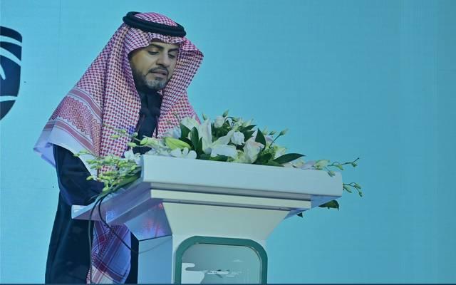 محافظ الجمارك السعودية، أحمد الحقباني، خلال كلمته في اليوم العالمي للجمارك