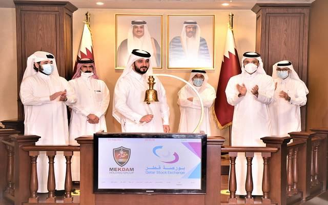 خلال تدشين الإدراج ببورصة قطر