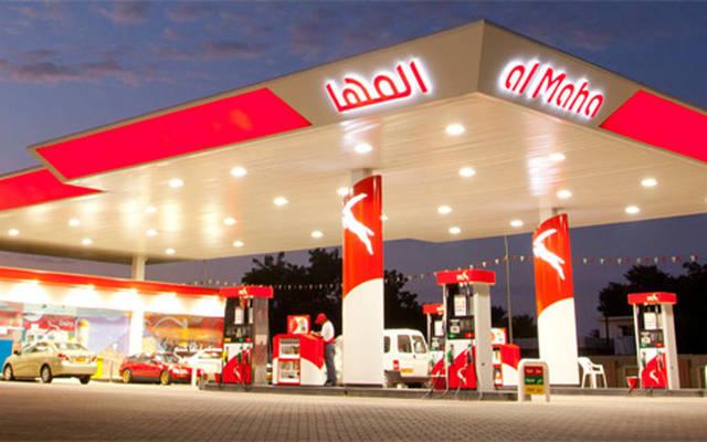 محطة وقود تابعة لشركة المها النفطية