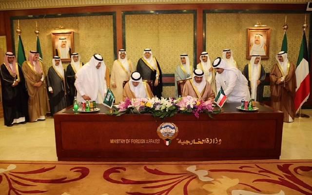 جانب من توقيع محضر انشاء المجلس التنسيقي