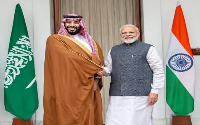 ولي العهد السعودي مع رئيس الوزراء الهندي