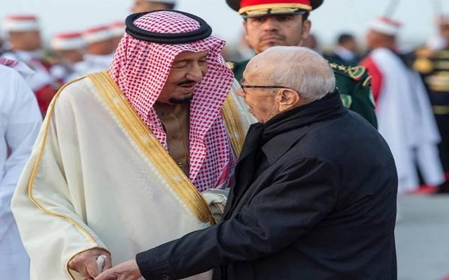 الملك سلمان والباجي السبسي يطلقان 3 مشروعات في تونس