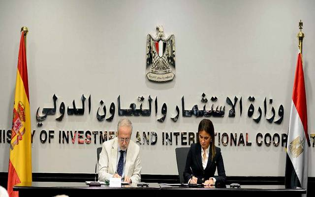 The agreement was signed by the Egyptian investment minister and the Spanish ambassador