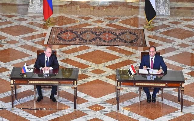 الرئيس السيسي خلال لقاء مع الرئيس بوتين