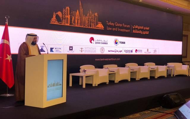 خلال انعقاد فعاليات منتدى القانون والاستثمار القطري التركي 2019
