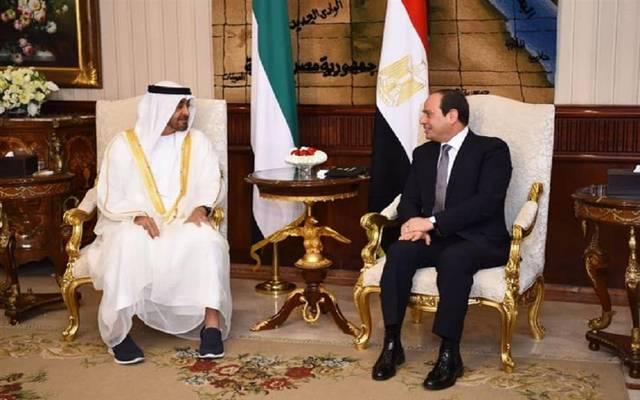 الرئيس المصري عبدالفتاح السيسي وولي عهد أبوظبي - أرشيفية