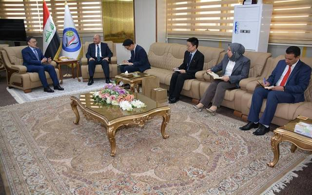 وزير العدل العراقي خلال استقباله السفير الصيني في بغداد تشانغ تاو