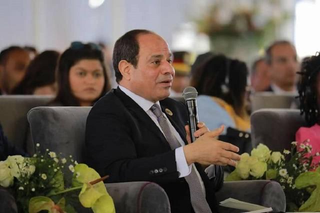 السيسي خلال جلسة 'مستقبل البحث العلمي وخدمات الرعاية الصحية' في ملتقى الشباب العربي والأفريقي