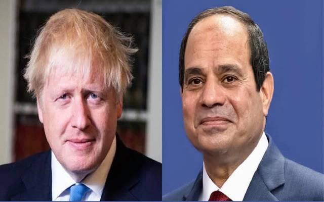 الرئيس المصري عبدالفتاح السيسي ورئيس الوزراء البريطاني بوريس جونسون