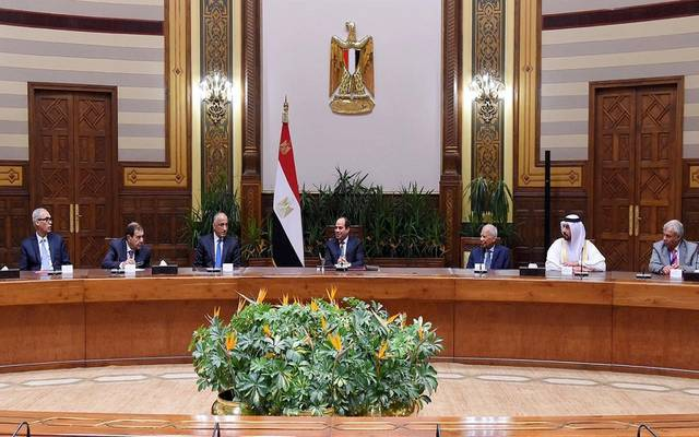 جانب من لقاء الرئيس السيسي باتحاد المصارف العربية