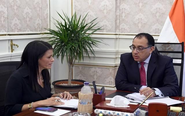 جانب من لقاء رئيس الوزراء مصطفى مدبولي، مع وزيرة السياحة رانيا المشاط