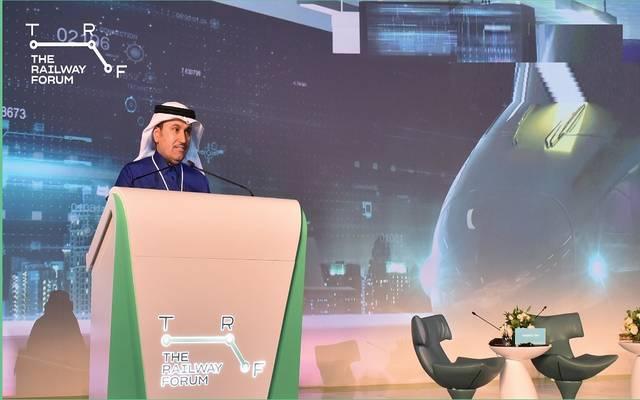 وزير النقل السعودي صالح الجاسر خلال منتدى السكك الحديدية 2020
