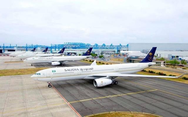 طائرات تابعة للخطوط الجوية السعودية