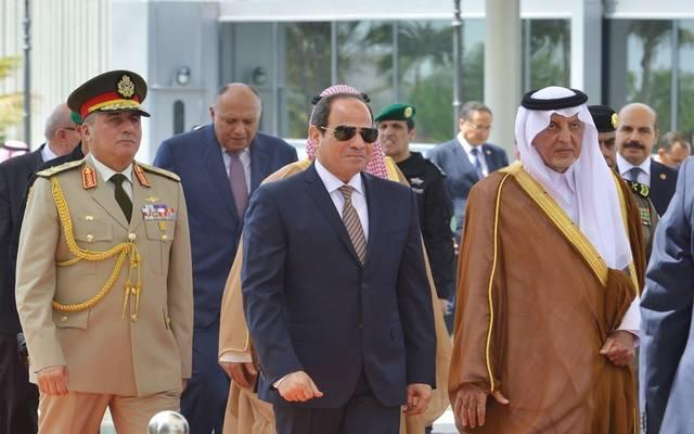 استقبال أمير مكة الرئيس المصري عبدالفتاح السيسي للمشاركة بأعمال قمم مكة