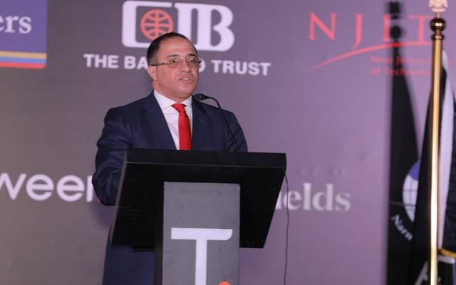 أحمد شلبي الرئيس التنفيذي للشركة خلال المؤتمر الصحفي