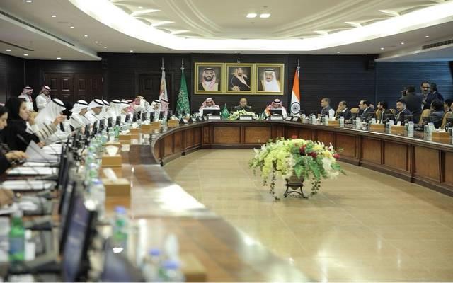 جانب من اللقاء السعودي الهندي في الرياض