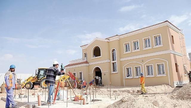إحدي مواقع البناء في دولة الإمارات العربية المتحدة
