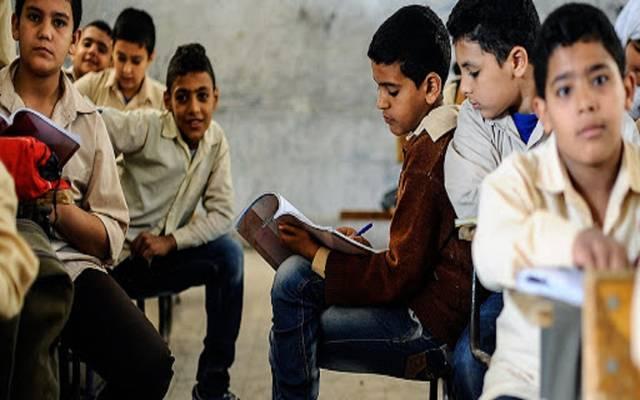 فصل دراسي بمرحلة التعليم الأساسي في مصر ـ أرشيفية