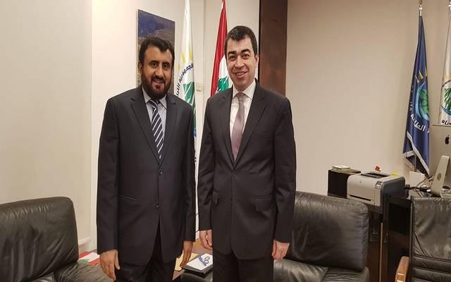 العضو المنتدب لتسويق النفط بالمؤسسة الكويتية مع وزير الطاقة اللبناني