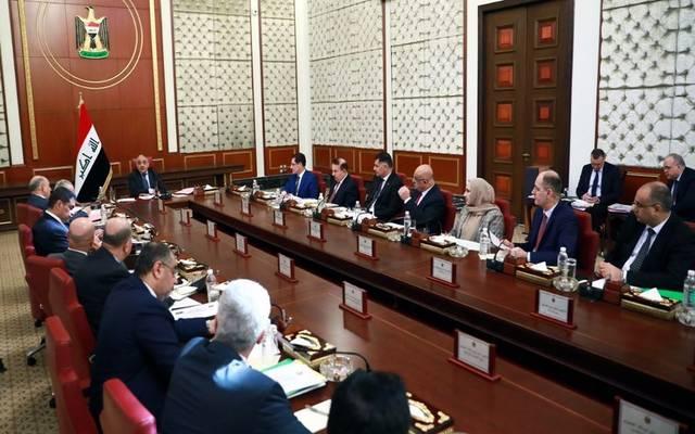 جانب من اجتماع مجلس الوزراء العراقي برئاسة رئيس المجلس عادل عبد المهدي