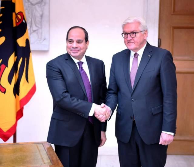 الرئيس عبدالفتاح السيسي والرئيس الألماني شتاينماير