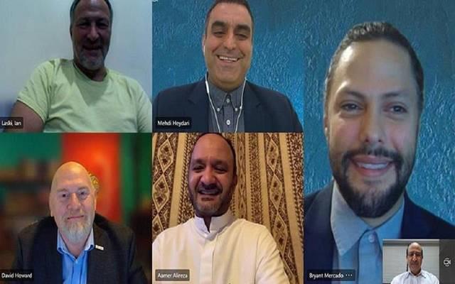 جانب من اللقاء الافتراضي لمجلس الأعمال الأمريكي السعودي