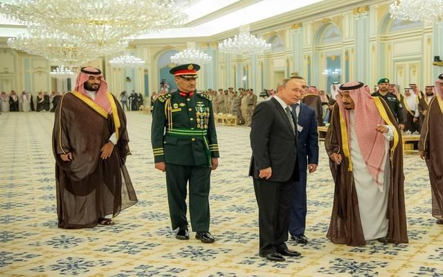 استقبال خادم الحرمين الشريفين الملك سلمان بن عبدالعزيز الرئيس الروسي فلاديميير بوتين