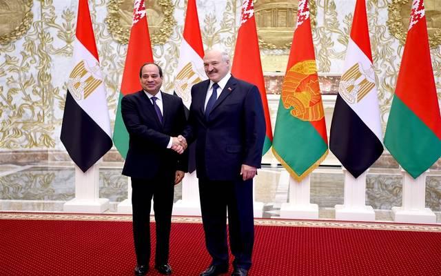 الرئيس المصري عبد الفتاح السيسي ونظيره البيلاروسي