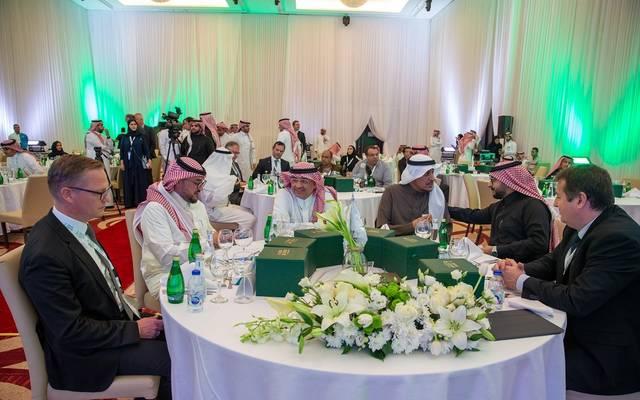 جانب من احتفال هيئة الاستثمار السعودية بتوقيع الاتفاقيات