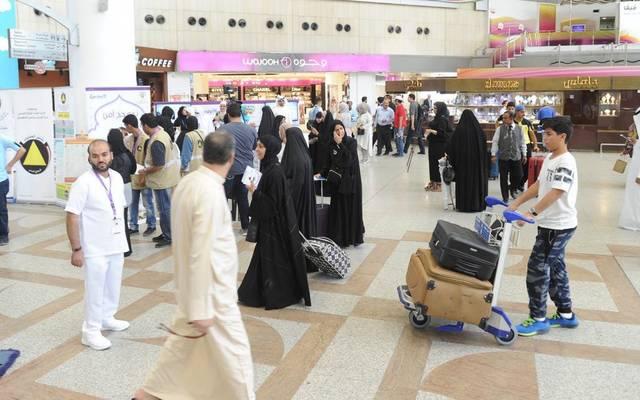 داخل صالة الوصول في مطار الكويت الدولي