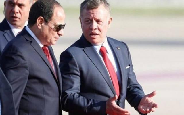 ملك الأردن ورئيس مصر - صورة أرشيفية
