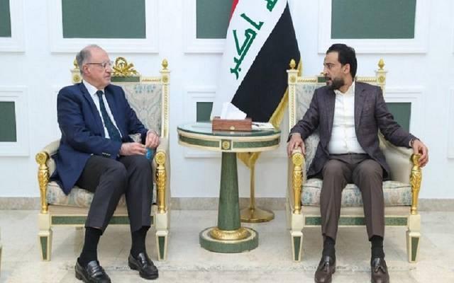 رئيس مجلس النواب العراقي يستقبل وزير المالية