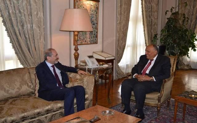 وزير الخارجية المصري ونظيره الأردني في لقاء سابق بالقاهرة