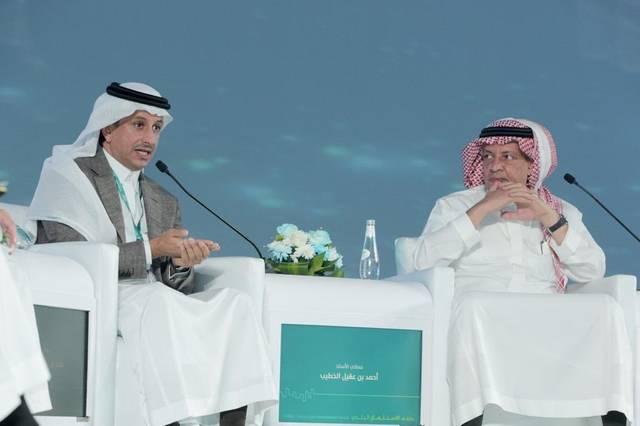 """رئيس الهيئة العامة للسياحة أحمد الخطيب خلال كلمته بملتقى """"فرص"""""""