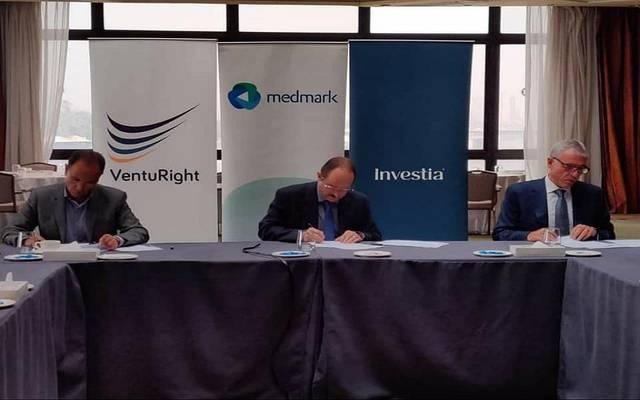 جانب من توقيع مذكرة التفاهم بين الشركات الثلاث