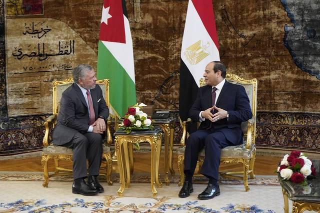 خلال لقاء سابق جمع بين الرئيس المصري عبدالفتاح السيسي، والعاهل الأردني عبدالله الثاني - أرشيفية