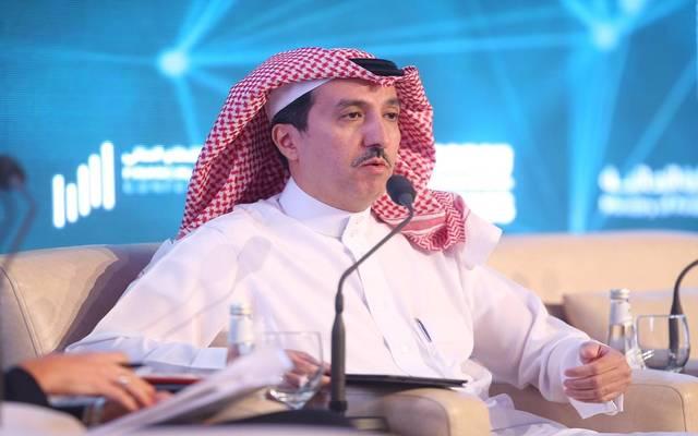وكيل محافظ مؤسسة النقد العربي السعودي للرقابة فهد الشثري خلال مؤتمر يورومني السعودية