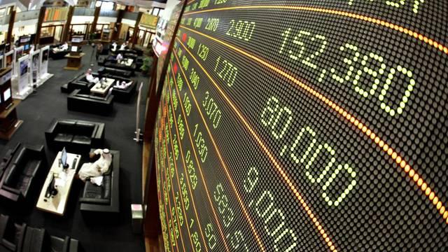 أحد أسواق الأسهم الإماراتية