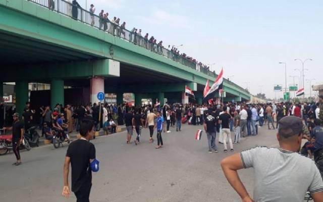 Agency: Thousands of Iraqis in demonstrations against the economic situation