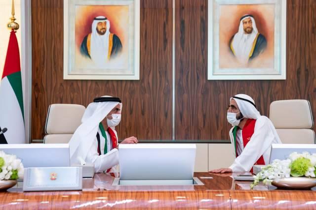 الشيخ محمد بن راشد خلال اجتماع مجلس وزراء الإمارات اليوم