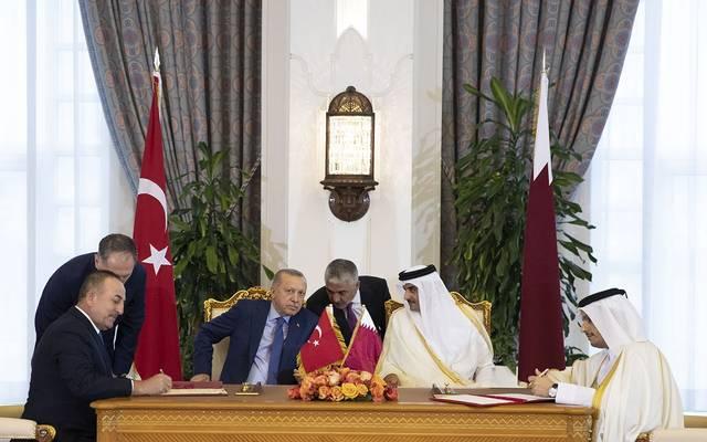 """7 اتفاقيات ومذكرات تفاهم بين قطر وتركيا..أبرزها تعديل """"مبادلة العملة"""""""
